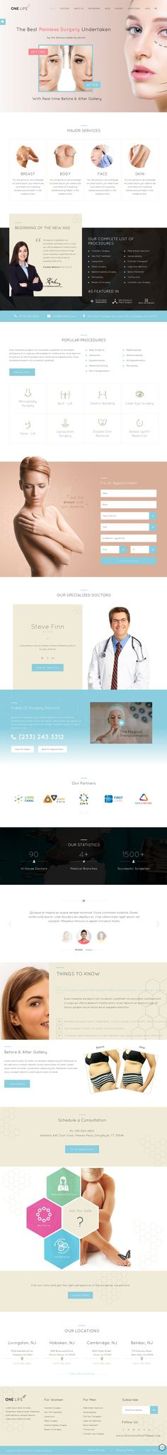 One Life is a versatile WordPress theme for the #Cosmetic Medical Center, Plastic #Surgeons, Hospitals, Beauty #Clinics, Health Care Companies, Pharmaceuticals and all medical related business #website. Download Now!