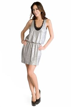 Robert Rodriguez Collection Sparkling Lace Dress VEGASSSSS!