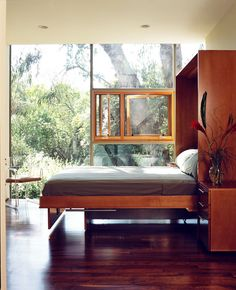 Wood Window in Storefront  Fineman Bowman Residence by Lorcan O'Herlihy