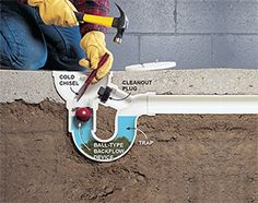to Unclog a Drain Unclog a floor drain by first removing the backflow preventer.Unclog a floor drain by first removing the backflow preventer. Plumbing Drains, Pex Plumbing, Bathroom Plumbing, Tips And Tricks, Eco Deco, Drain Repair, Floor Drains, Home Fix, Septic System