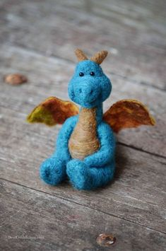 Bear Creek Dragon needle felted by Teresa Perleberg