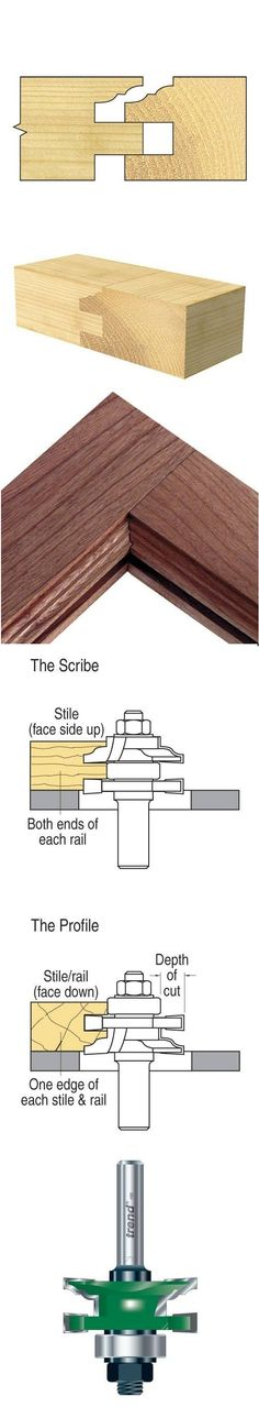 The classic method of producing cabinet panelled door and drawer fronts is made easy with these Profile Scriber sets. With the combination type, components are re-arranged on the arbor to cut the profile or the scribe. * Cuts both parts of the joint by reassembly of the tool..... For more information....   #Profile #scriber #flat classic set...   http://www.woodfordtooling.com/craftpro-router-cutters/profile-scribers/flat-classic-combination-set/profile-scriber-flat-classic-set-635.html