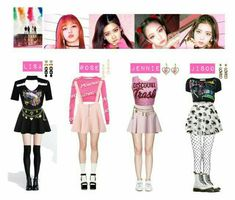 Really like these fall korean fashion Blackpink Fashion, Kpop Fashion Outfits, Stage Outfits, Dance Outfits, Little Mix Outfits, Pink Outfits, Korean Outfits Kpop, Looks Kawaii, Kpop Mode