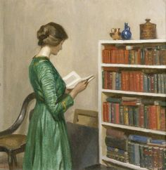 The Reader (c.1910). Harold Knight (English, 1874-1961). Oil on canvas. Royal Pavilion, Libraries & Museums, Brighton & Hove.