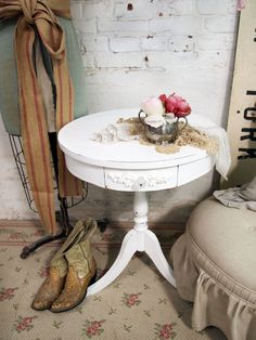 Vintage Painted Cottage Shabby White Romantic by paintedcottages