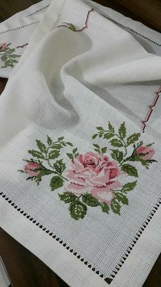 Cross stitched tablecloch with wild flowers, table decor, floral doily, hand embroidery multicolor tablecloch 123 Cross Stitch, Simple Cross Stitch, Cross Stitch Borders, Cross Stitch Flowers, Cross Stitch Designs, Cross Stitch Embroidery, Cross Stitch Patterns, Hand Embroidery Designs, Embroidery Patterns