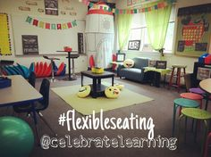 Flexible Seating in the classroom. Happy Classrooms. Alternative Seating in the classroom.