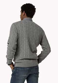 Rundhals-sweater Aus Wollgemisch