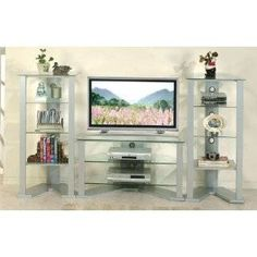 tempered glass bookcase entertainment center   Related Pictures tv entertainment center in modern living room designs ..