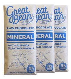 Mineral Black Lava Salt & Almond Raw Chocolate – Pack of 3 | Food & Drink Snacks | Great Bean | Scoutmob Shoppe | Product Detail