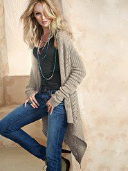Pointelle Open Cartigan Sweater - Victoria's Secret $49.50