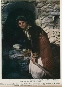 Cyprus 1928 woman in bakery Cyprus Women, South Cyprus, Cyprus Island, Greek Town, National Geographic Images, 17th Century Art, Historical Images, Luxor Egypt, Athens Greece