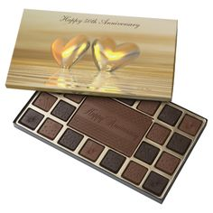 Golden Anniversary Hearts 45 Piece Assorted Chocolate Box
