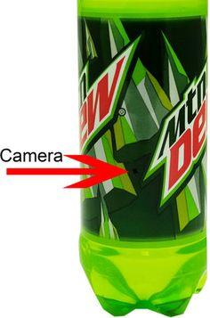 Omni Soda Bottle Spy Camera/DVR Pinhole Camera, Spy Camera, Spy Gadgets, Gadgets And Gizmos, Spy Devices, Spy Gear, Nanny Cam, Shopping Products, Hidden Camera