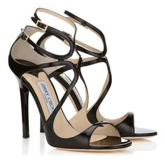 Black Patent Leather Sandals | Strappy Sandals | Lance | JIMMY CHOO