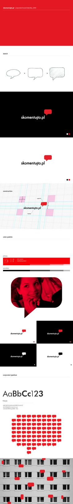 Logotype and mark design construction for Skomentujto.pl