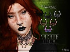Anchor Septum by Blahberry Pancake for The Sims 4