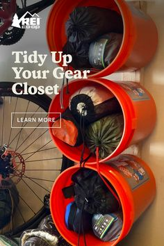 Tidy Up Your Gear Storage - REI Co-op Journal - - Simplify and organize your gear (and set yourself up for quick, grab-and-go adventures) with these tips.