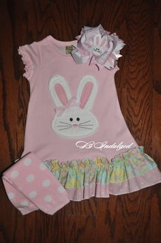 Girls Easter Bunny Dress