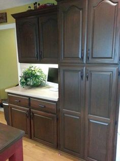 Antique Walnut Cabinet Transformation