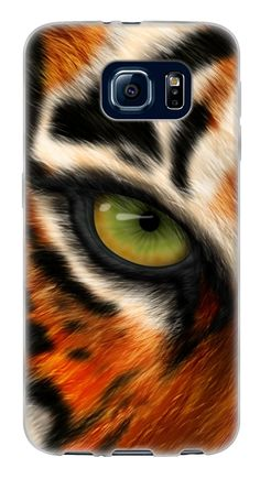 Amazon.com: Orange, White and Black {Realistic Closeup Animals Tiger} Soft and Smooth Silicone Cute 3D Fitted Bumper Back Cover Gel Case for Samsung Galaxy S6: Cell Phones & Accessories