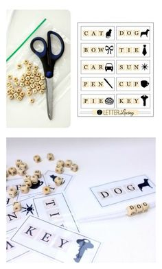 Pre-K Spelling - Practice spelling 3 letter words & hand-eye coordination. Free printable too! I would use my scrabble letters. Preschool Literacy, Pre Kindergarten, Early Literacy, Preschool Art, Toddler Preschool, 3 Letter Words, Cvc Words, Educational Activities For Kids, Kids Learning