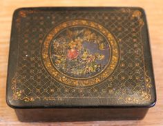 19th C or Early 20th C Russian Lacquer Box by ADesignersEye