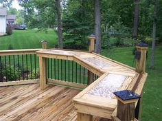 Modern Classic Backyard Retreat - traditional - deck - toronto - by Construction Inc. Backyard Patio Designs, Backyard Projects, Backyard Decks, Patio Ideas, Outdoor Ideas, Diy Projects, Deck Bar, Patio Bar, Patio Railing