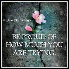 Please be proud..
