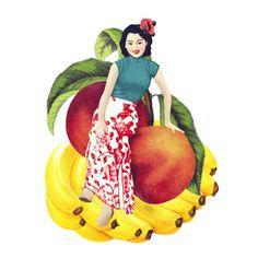 tutti frutti bananas   batabasta (Clara Arnús & Leti Cano), Print Breakers www.batabasta.com    gif:  http://batabasta.com/wp-content/uploads/2013/09/pros.gif  uniforms & wallpaper: http://batabasta.com/uniforms-elephantcrocodilemonkey/