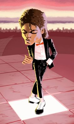 Caricature of Michael Jackson doing his Billie Jean dance Michael Jackson Wallpaper, Michael Jackson Kunst, Billie Jean Michael Jackson, Michael Jackson Drawings, Funny Caricatures, Celebrity Caricatures, Creation Art, Black Art Pictures, Black Love Art