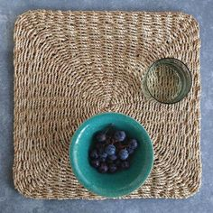 Abaca Chunky Square Placemat Set: Remodelista