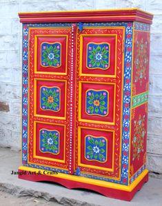 meubles peints boutique indienne d coration meuble indien hand painted pinterest. Black Bedroom Furniture Sets. Home Design Ideas
