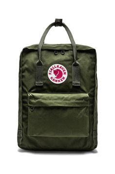 Fjallraven Kanken in Green - I use mine all the time.  It fits perfectly under the seat in front of me on the plane too.