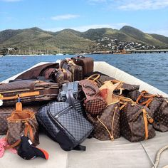 LV madness!!! to st barth #toomuchluggage #stbarth #louisvuitton by alexmintzberg