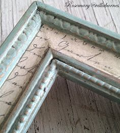 frame with decoupage and distressed paint French Decor, French Country Decorating, French Country Crafts, French Country Fabric, French Country Wall Decor, Country Style, Decoration Hall, Picture Frame Crafts, Paint Picture Frames