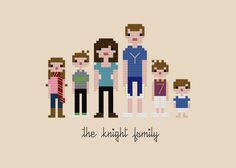Custom PATTERN Pixel People Portrait The by weelittlestitches