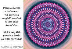 Mandala Nepodléhej obavám a starostem Mandala Art, Outdoor Blanket