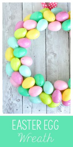 Easy Easter Egg Wrea