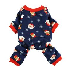 Fitwarm Christmas Santa Thermal Dog Pajamas Pet Clothse Fleece Coat Jumpsuit Blue *** Click on the image for additional details. (This is an affiliate link and I receive a commission for the sales)
