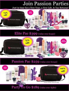 Join Passion Parties!  Www.brennarea.yourpassionconsultant.com Www.facebook.com/brennaspassionparties