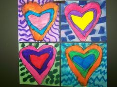 WHAT'S HAPPENING IN THE ART ROOM??: 1st GRADE--Jim Dine Hearts