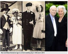 The Earth We Live In's photo: Couple Who Posed as Bride & Groom at Age 4 Still Going Strong at 91.