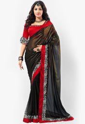 Admyrin Black Printed Saree Online Shopping Store