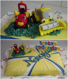 Tractor Tom and Wheezy cake idea :)