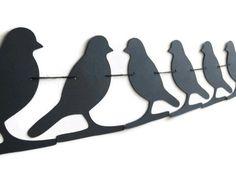 Birds on a Wire Black Bird Banner Bird Lover Bunting by LoveStar1, $10.00