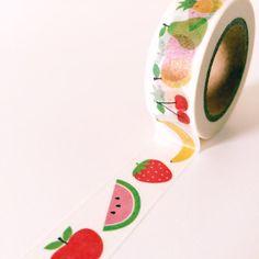 fruit washi tape for sealing invites