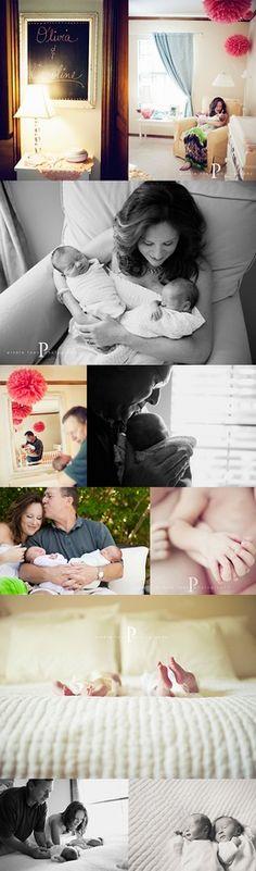 twins newborn shoot - pinkletoes