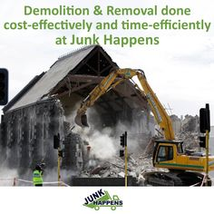 Demolition & Removal Services from Junk Happens - At Junk Happens, we have advanced equipment to take on any Demolition & Removal projects you have. We are just a call away! Book us online and save $10. Click here for more detailed info: http://www.junkhappens.com/demolition-removal/ #Demolition #building #removal #recycling #Minnesota # StPaul