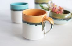 Peach Drip Mug (Multiple Sizes) Christmas 2015, Christmas Wishes, Im Coming Home, Chair And Ottoman Set, Home Goods Decor, Glaze Recipe, Pottery Mugs, Humble Abode, Kitchen And Bath